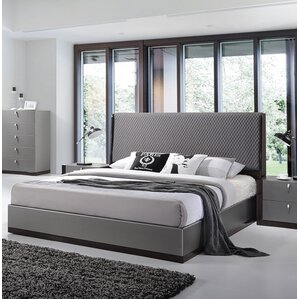 Carmichaels Upholstered Platform Bed by Wade Logan