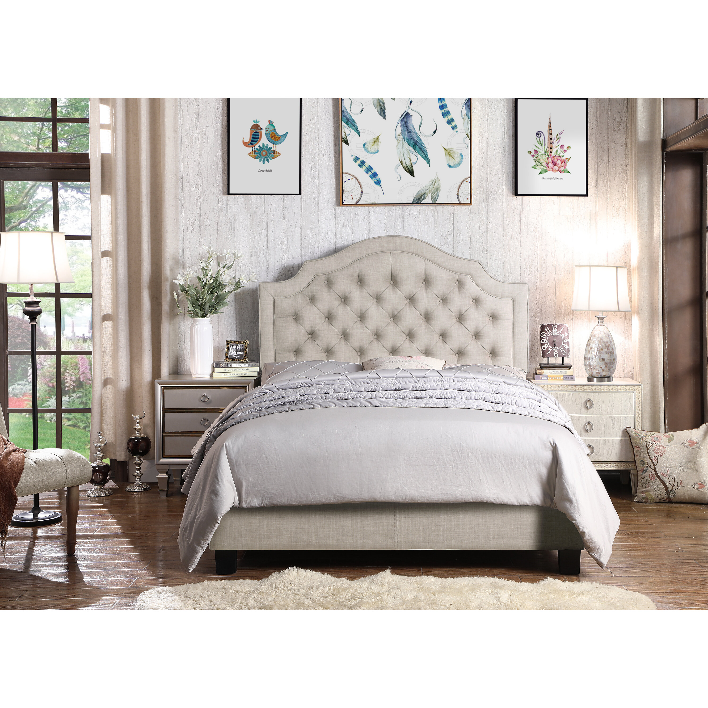 Andover Mills Swanley Tufted Upholstered Low Profile Standard Bed Reviews Wayfair