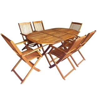 Cline 6 Seater Dining Set By Sol 72 Outdoor