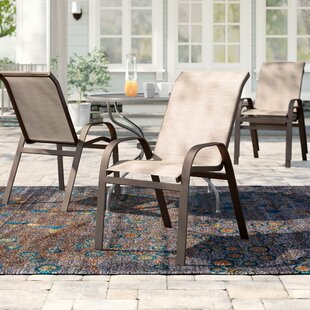 Jame Stacking Patio Dining Chair (Set Of 4) by Red Barrel Studio Fresh