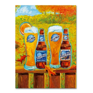 Harvest by Blue Moon Painting Print on Wrapped Canvas by Miller Coors