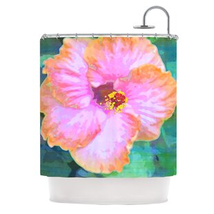 Hibiscus Single Shower Curtain by East Urban Home Purchase