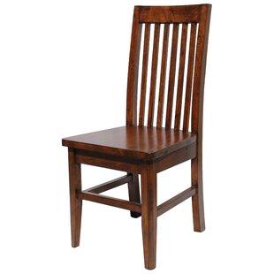 Yorba Linda Pine Slat Back Side Chair (Set of 2) Loon Peak