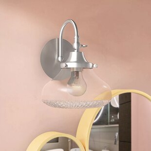 Reviews Brycen 1-Light Vanity Light By Ivy Bronx