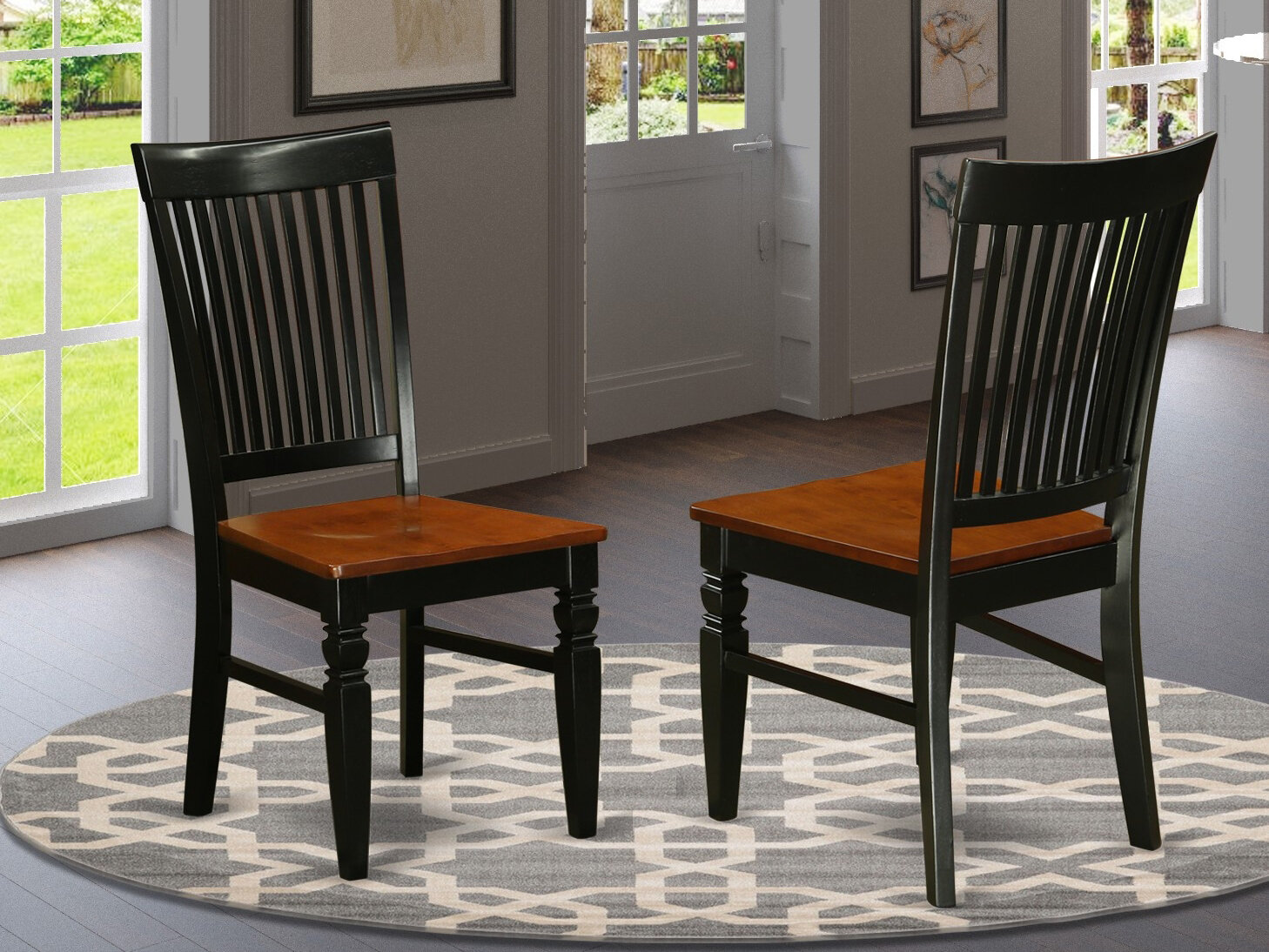 Darby Home Co Beesley Solid Wood Slat Back Side Chair Wayfair