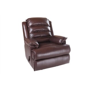 Mckinley Leather Manual Rocker Recliner by At Home Designs