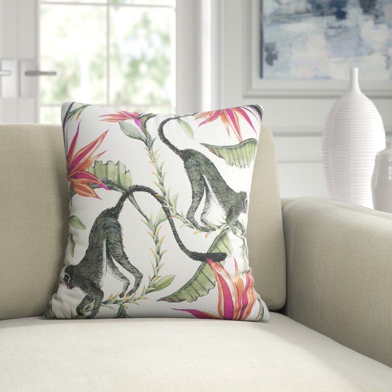 Ngala Trading Co Ardmore Cotton Floral Throw Pillow Reviews Perigold