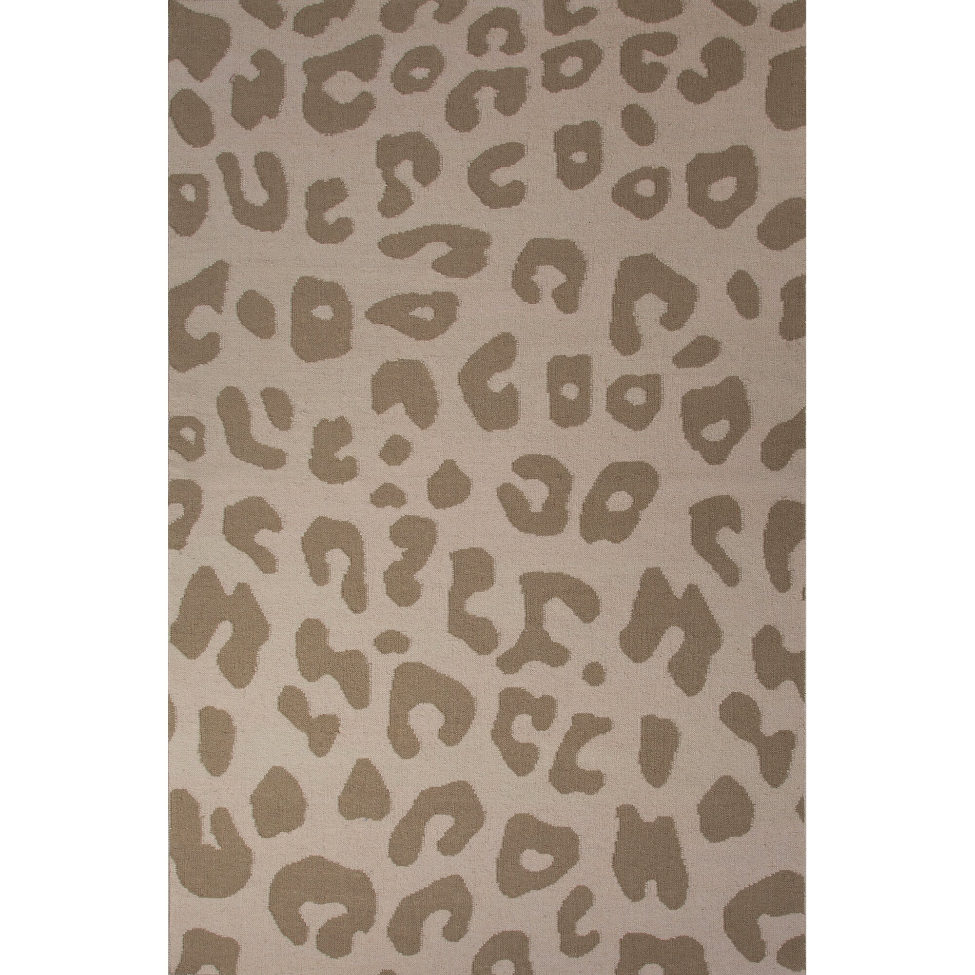 National Geographic Home Collection Wool Tan Leopard Flat Weave Area Rug Reviews Wayfair