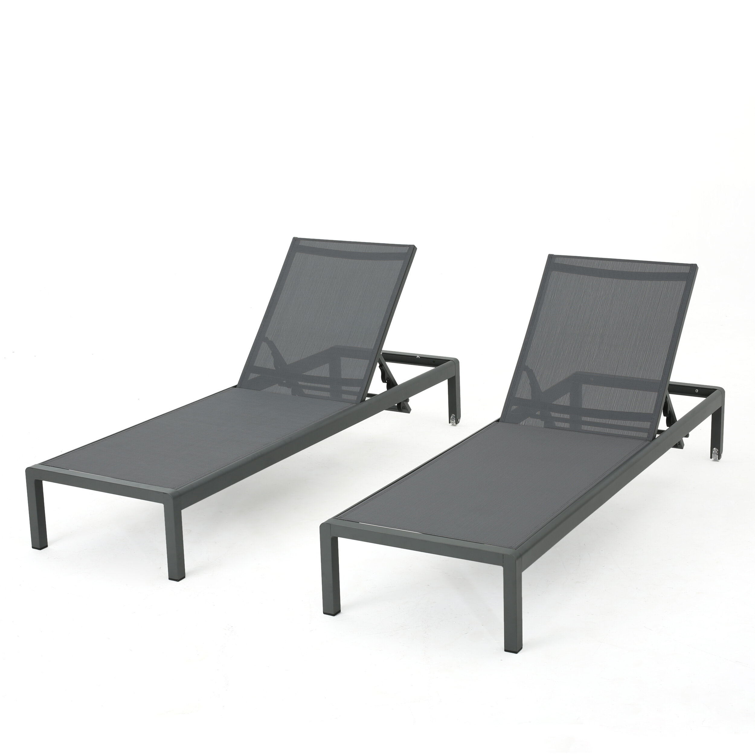 Crosstown aluminum mesh chaise lounge reviews joss main