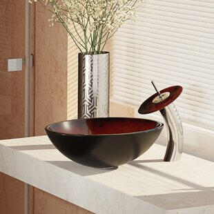 Buying Glass Circular Vessel Bathroom Sink with Faucet By René By Elkay