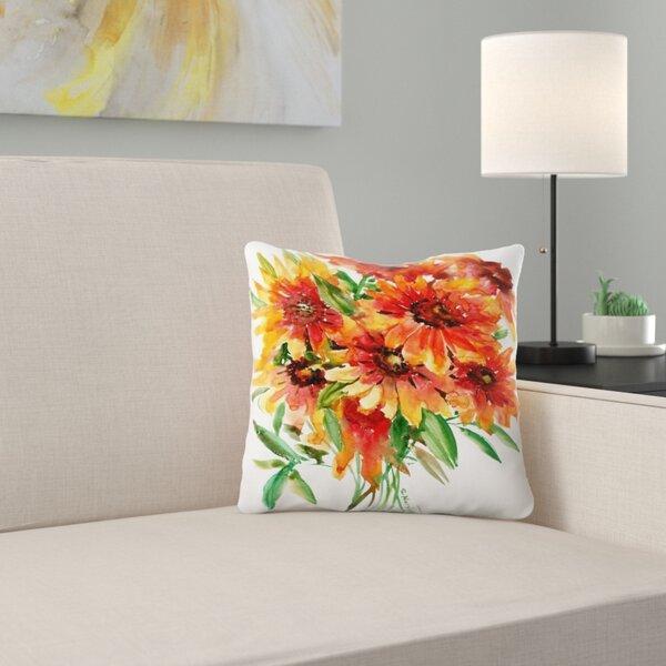 East Urban Home Suren Nersisyan Blanket Flowers Throw Pillow Wayfair