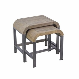 Paislee Arc 2 Piece Solid Wood Nest Of Tables By Ebern Designs