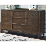 Meilani 9 Drawer Double Dresser by Millwood Pines