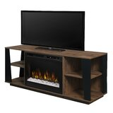 Lewter TV Stand for TVs up to 65 with Electric Fireplace Included by Millwood Pines
