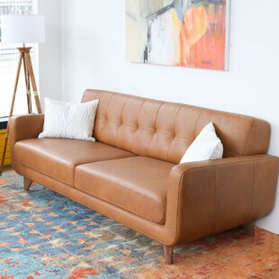 Geri Leather Sofa by Corri..