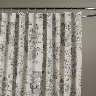 Find Adoxa Etching Cotton Shower Curtain By Lark Manor