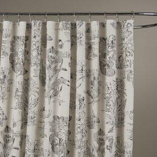 Adoxa Etching Cotton Single Shower Curtain