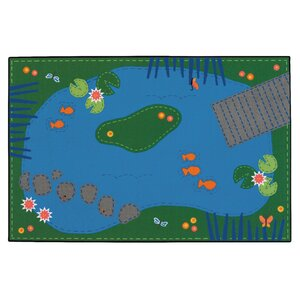 Value Plus Tranquil Pond Area Rug