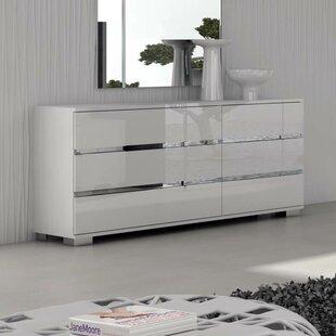 White High Gloss Dresser Wayfair