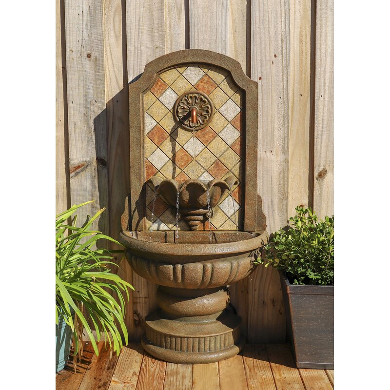 Fleur De Lis Living Resin Fountain With Light Reviews Wayfair