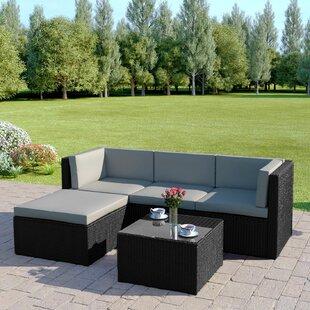 Gouveia 4 Seater Rattan Corner Sofa Set Image
