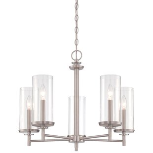 Aspasia5-Light Shaded Chandelier by Wrought Studio