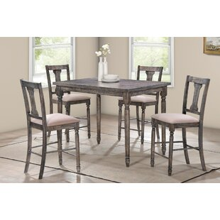 Iyana 5 Pieces Pub Table Set Ophelia & Co.