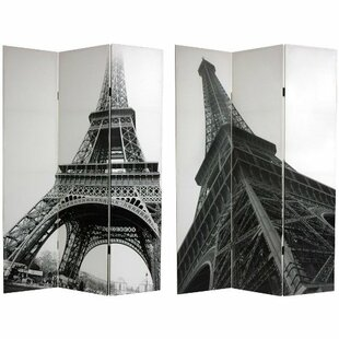 70.88 X 47.25 Eiffel Tower 3 Panel Room Divider By Oriental Furniture