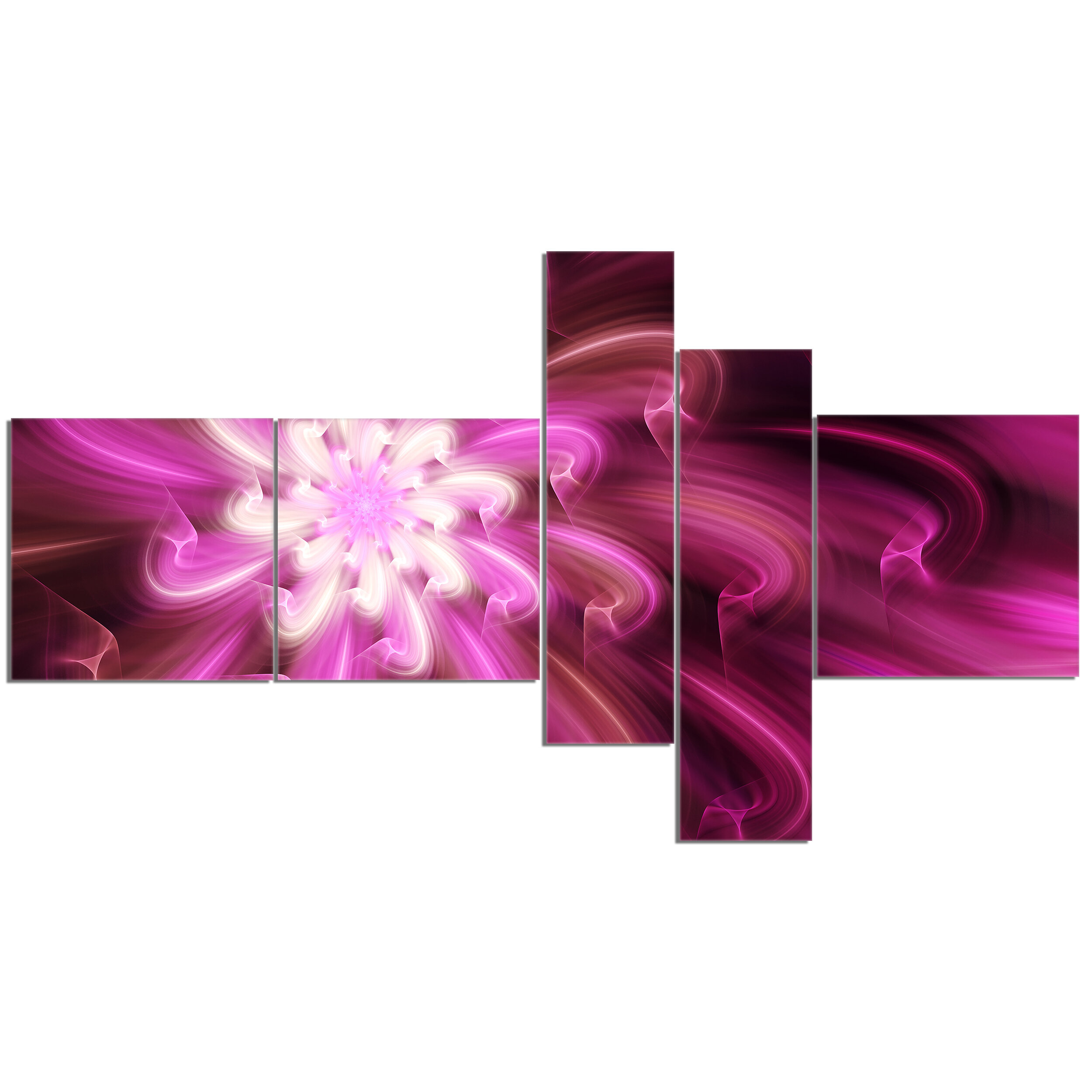 East Urban Home Exotic Dance Of Purple Flower Petals Graphic Art