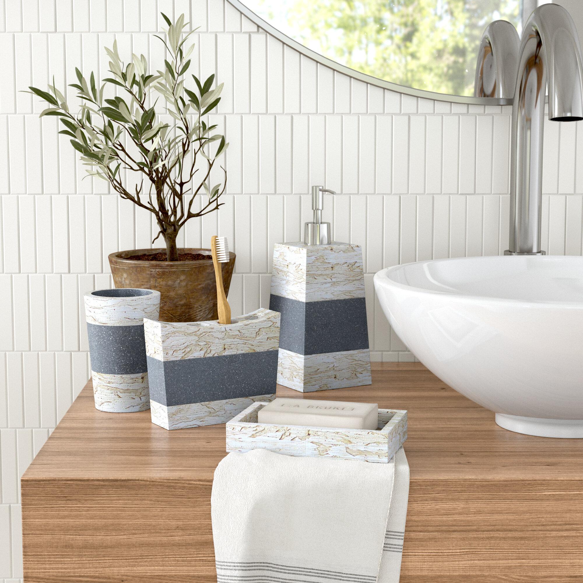 19 Piece Bathroom Combo 2 Tone Different Design Mix Match Bath Accessory Set Bathroom Accessory Sets Home Garden