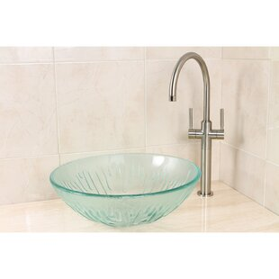 Kingston Brass Constellation Glass Circular Vessel Bathroom Sink