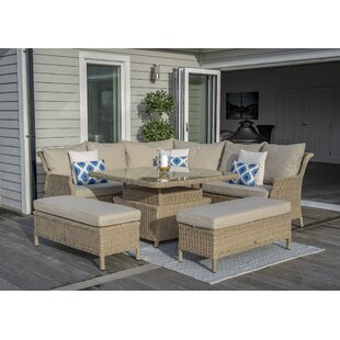 Rysing 9 Seater Rattan Corner Sofa Set By Sol 72 Outdoor