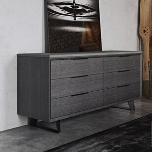 Modloft Amsterdam 6 Drawer Double Dresser