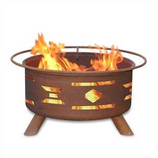 Patina Products Classic Mosaic Santa Fe Steel Wood Burning Fire Pit