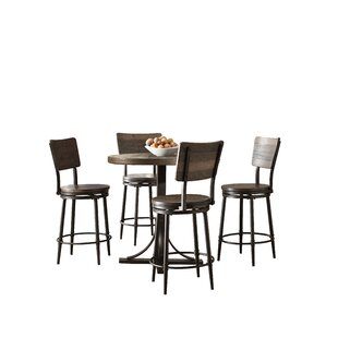 Putney 5 Piece Counter Height Breakfast Nook Dining Set by Gracie Oaks