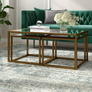 Alvis 3 Piece Coffee Table Set by Willa Arlo Interiors SKU:EB380067 Order