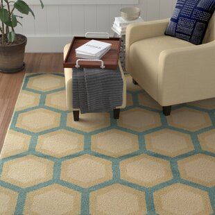 Jillian Teal/Ivory Area Rug by Winston Porter