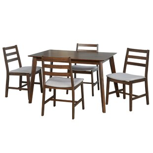 Hardman 5 Piece Dining Set by Wrought Studio