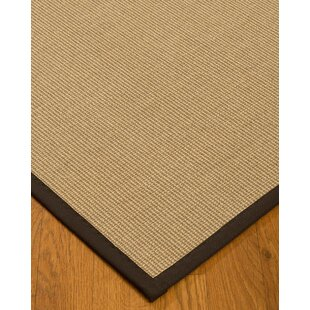 Find a Atwell Border Hand-Woven Gray/Fudge Area Rug ByBayou Breeze