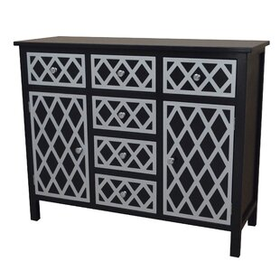 Trellis 6 Drawer and 2 Door Accent Cabinet by Gallerie Decor