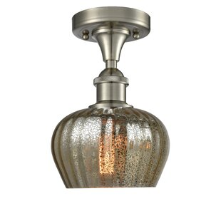 Affordable Price Dooling 1-Light Semi Flush Mount By Gracie Oaks