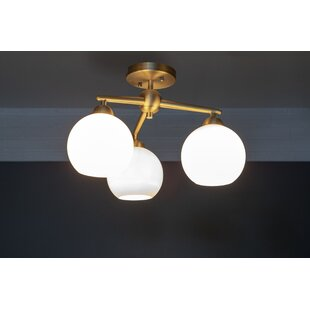 Eveleth 3-Light Semi Flush Mou..