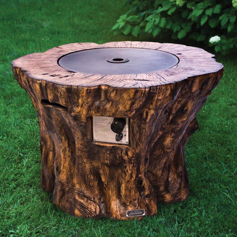 sunbeam concrete propane fire pit table  u0026 reviews