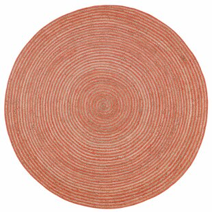 Latour Braided Cotton Orange Area Rug by August Grove