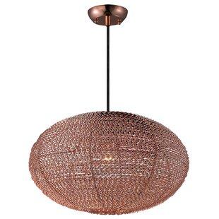 Bungalow Rose Hoover 1-Light Globe Pendant