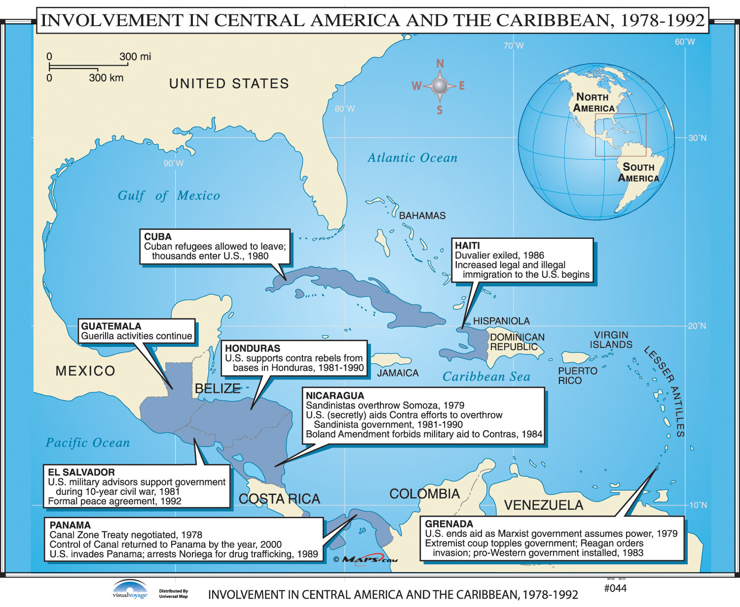 Universal Map US History Wall Maps US Intervention in Latin