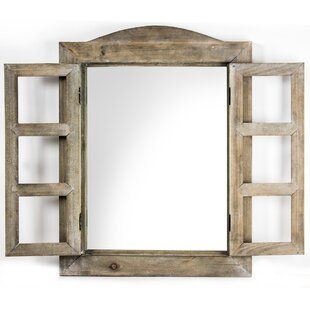 Arched Shutter Mirror Wayfair