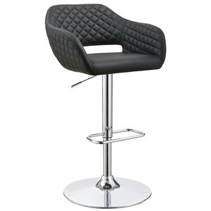 Mariah Adjustable Height Swivel Bar Stool by Wade Logan