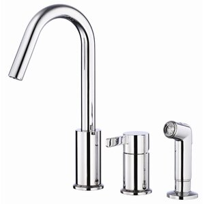 Danze? Amalfi Single Handle Deck Mount Kitchen Faucet with Spray