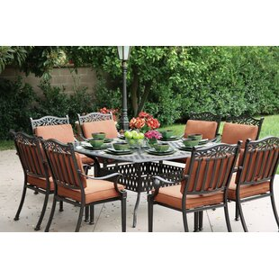 Astoria Grand Fairmont 9 Piece Dining Set with Cushions